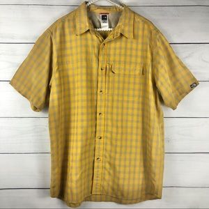 THE NORTH FACE |Yellow Button Down Plaid Shirt-882